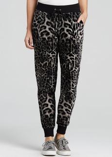 MICHAEL Michael Kors Velour Leopard Print Pants