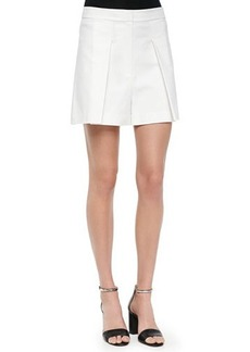 MICHAEL Michael Kors Wide Pleated Shorts, White