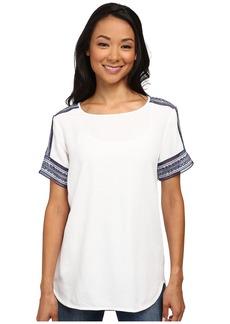 MICHAEL Michael Kors Woven Tee Shirt with Embellishment
