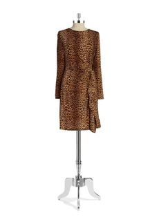 MICHAEL MICHAEL KORS Wrap-Style Sheath Dress