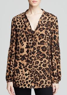 MICHAEL Michael Kors Yesler Leopard Print Blouse