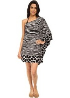 MICHAEL Michael Kors Zebra Chevron One Shoulder Cover-up
