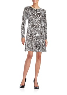 MICHAEL MICHAEL KORS Zebra Print Sweater Dress