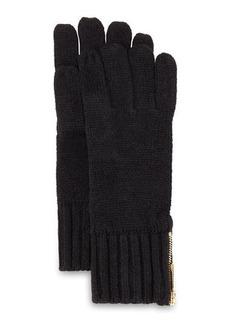 MICHAEL Michael Kors Zip-Cuff Knit Gloves
