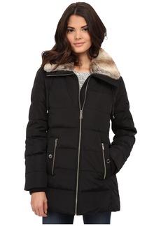 MICHAEL Michael Kors Zip Front Club Collar w/ Faux Fur