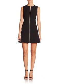 MICHAEL MICHAEL KORS Zip-Front Knit Fit-And-Flare Dress