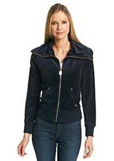 MICHAEL Michael Kors® Zip Front Velour Jacket