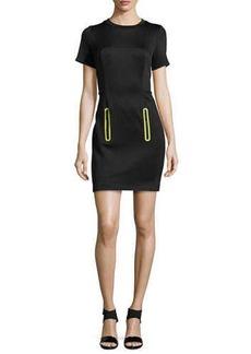 MICHAEL Michael Kors Zip-Pocket Jersey Scuba Dress