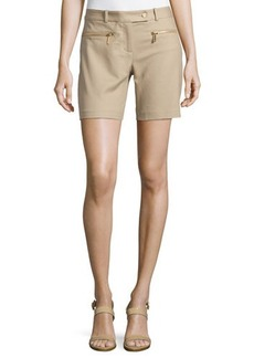 MICHAEL Michael Kors Zip-Pocket Straight-Leg Shorts