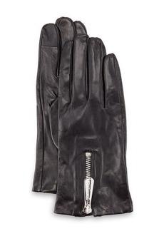 MICHAEL Michael Kors Zipper Leather Tech Gloves