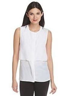 MICHAEL Michael Kors® Zipper Shoulder Sleeveless Top