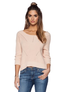 Michael Stars 3/4 Sleeve Crop Sweater