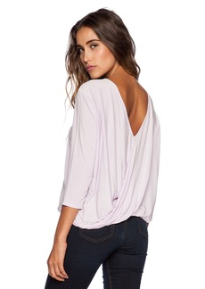 Michael Stars 3/4 Sleeve Cross Over Back Top