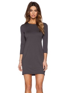 Michael Stars 3/4 Sleeve Drape Dress