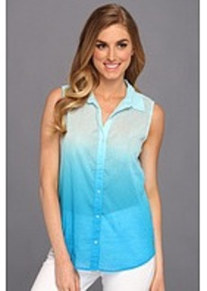 Michael Stars Aruba Ombre Sleeveless Button Down