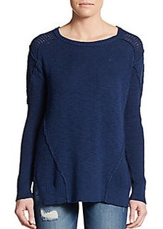Michael Stars Asymmetrical Seamed Knit Pullover