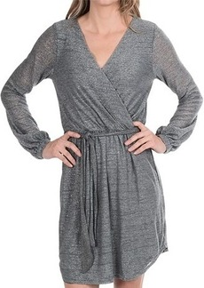 Michael Stars Belted Surplice Dress - Long Sleeve (For Women)