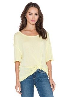 Michael Stars Boatneck Side Tie Tee
