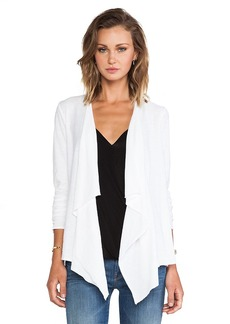 Michael Stars Cascade Front Cardigan in White