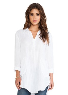Michael Stars Collared Tunic in White