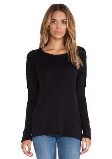 Michael Stars Crew Neck Sweater with Side Slits