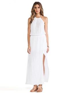 Michael Stars Double Slit Halter Dress in White