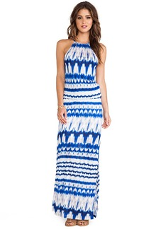 Michael Stars Double Slit Maxi Dress in Blue
