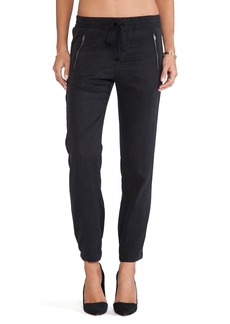 Michael Stars Drawstring Pull-on Pant with Zippers