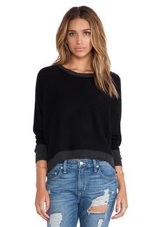 Michael Stars Hi-Low Boat Neck Sweater in Black