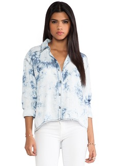 Michael Stars High Low Button Down Shirt