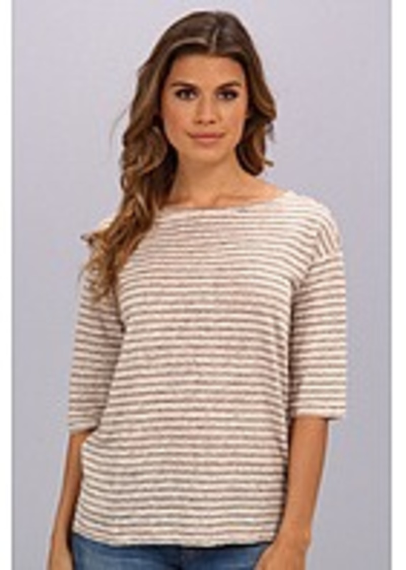 Michael stars michael stars linen knit stripe elbow sleeve for Michael stars t shirts on sale