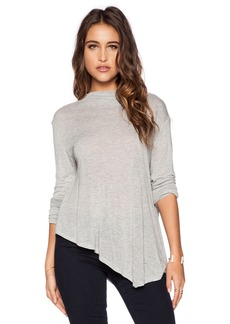 Michael Stars Long Sleeve Asymmetrical Mock Crop