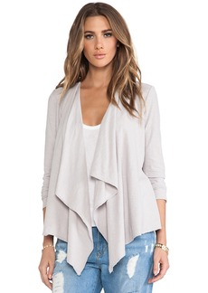 Michael Stars Long Sleeve Cascade Front Cardigan