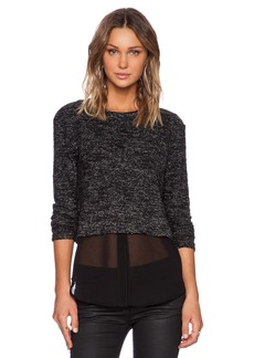 Michael Stars Long Sleeve Crop Pullover
