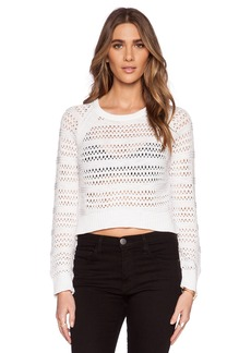 Michael Stars Long Sleeve Hi-Low Crop Sweater