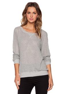 Michael Stars Long Sleeve Mesh Sweatshirt