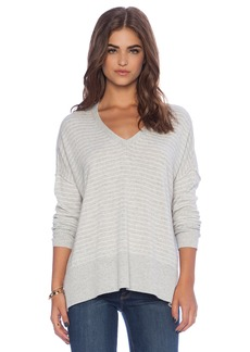 Michael Stars Long Sleeve V Neck Top