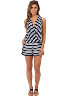 Michael Stars Mercer Stripe Surplice Romper