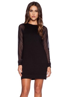 Michael Stars Mesh Sleeve Dress