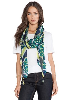 Michael Stars Mosaic Medallion Scarf in Navy