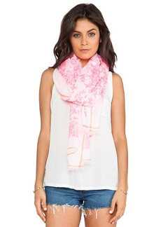 Michael Stars Neon Foliage Scarf in PInk