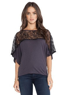 Michael Stars Off the Shoulder Dolman Top in Charcoal