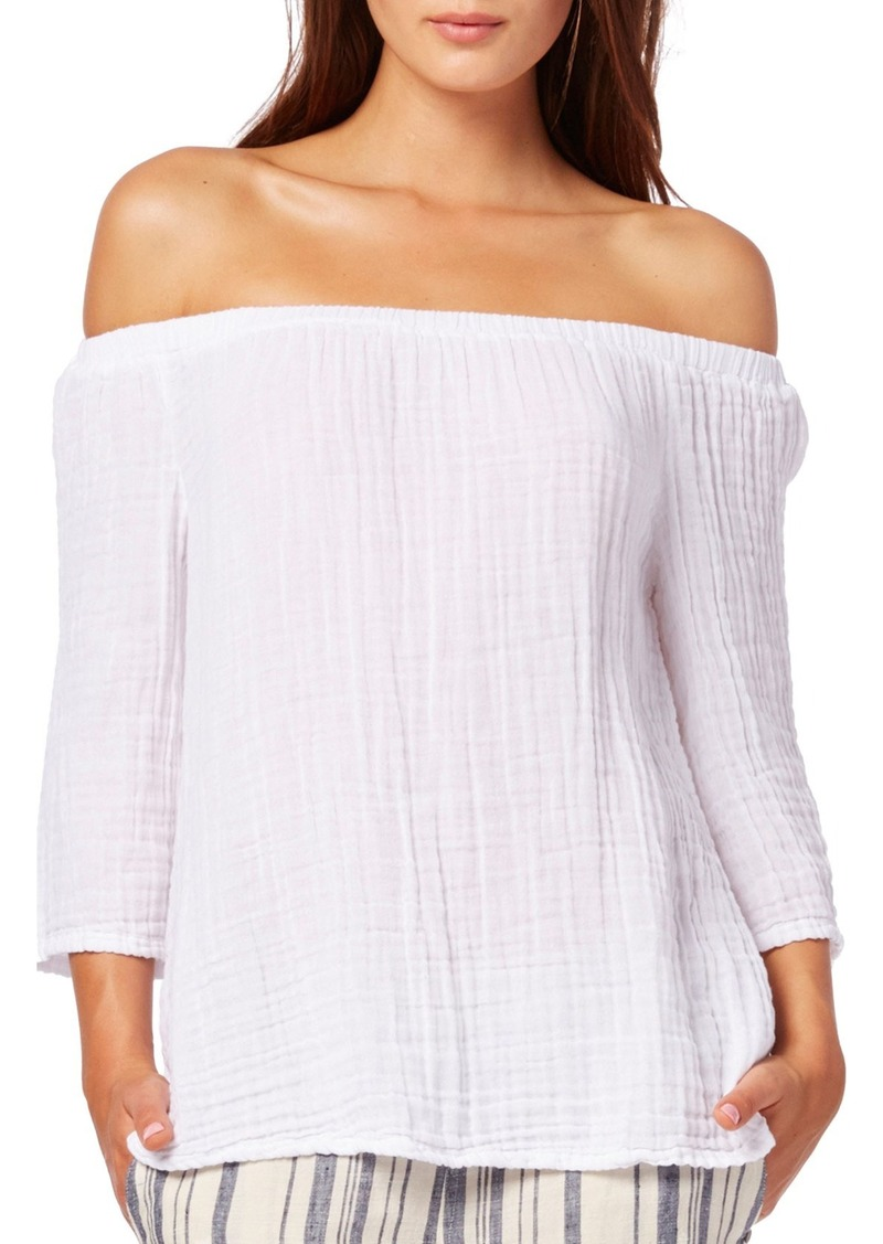 Michael stars michael stars off the shoulder top casual for Michael stars t shirts on sale
