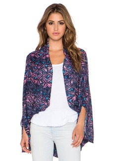 Michael Stars Overdyed Batik Cape