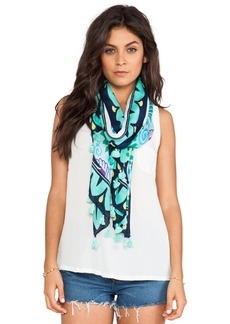 Michael Stars Palm & Paisley Scarf in Blue