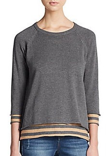 Michael Stars Reversible Stripe Paneled Sweater