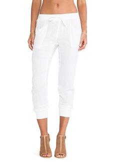 Michael Stars Rib Cuff Pants in White