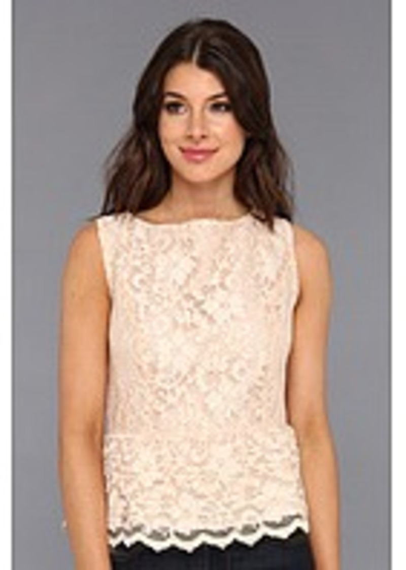 Michael stars michael stars scallop lace tank with peplum for Michael stars t shirts on sale