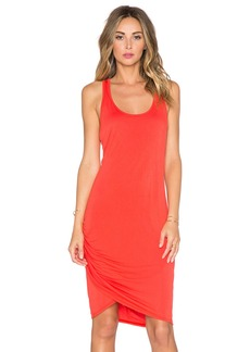 Michael Stars Scoop Neck Wrap Dress