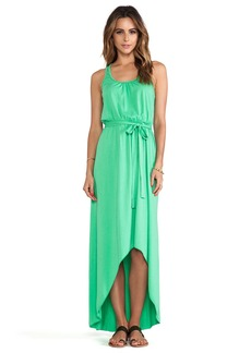 Michael Stars Seamless Scoop Neck Racer Back High Low Maxi Dress